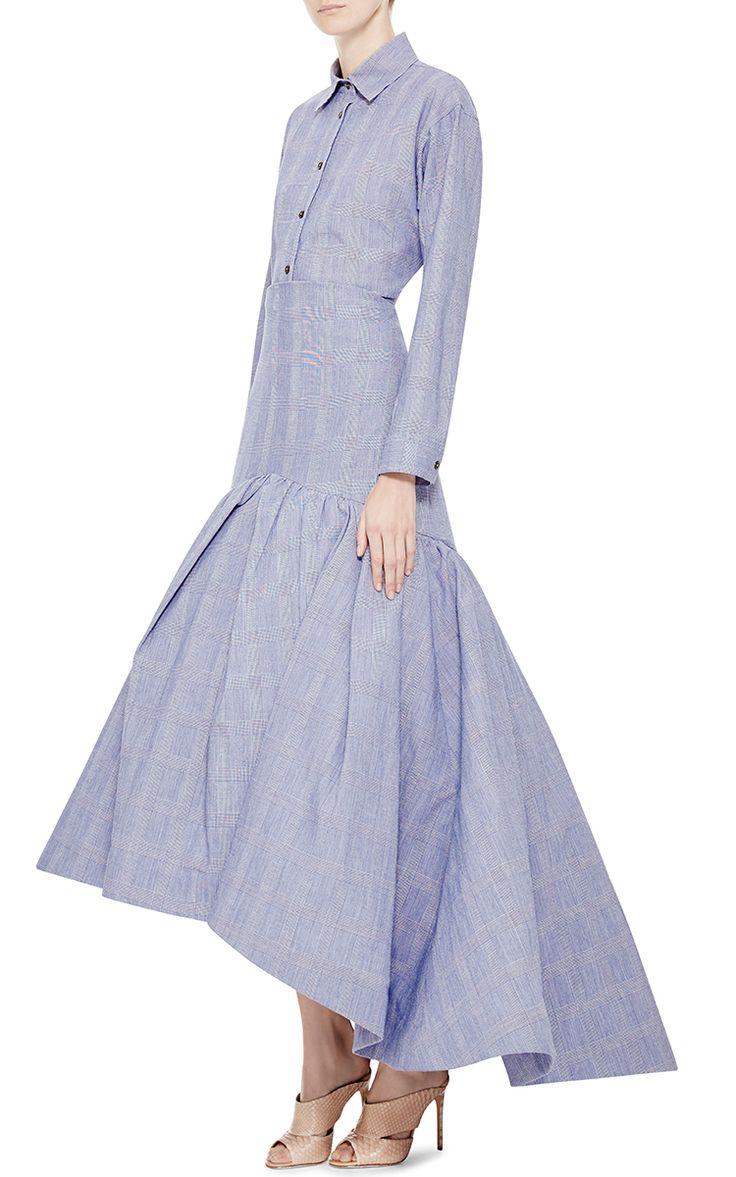 Prince Of Wales Cotton-Blend Maxi Skirt by Rosie Assoulin - Moda Operandi