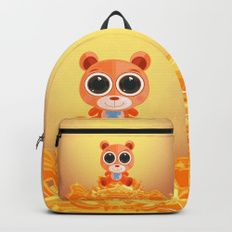 Teddy Bear - Candy Orange Backpacks
