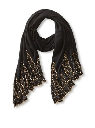 68% OFF Saachi Women's Gold Beaded Wrap, Black