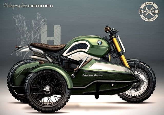 caferacerpasion: BMW R nineT Scrambler Sidecar design by Holographic Hammer   www.caferacerpasion.com