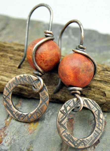 Coral Wish Sponge Coral and antiqued by ThePurpleLilyDesigns, $19.50