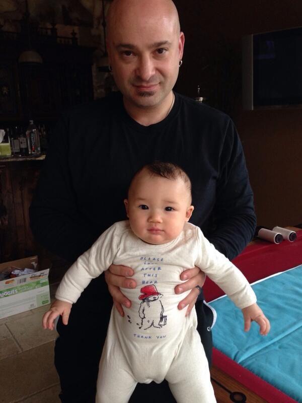 Lena Yada's husband David Draiman (from the band Disturbed) & their adorable son Samuel Bear
