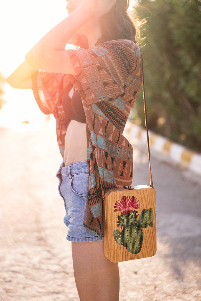 cactus wood bag by Grav Grav