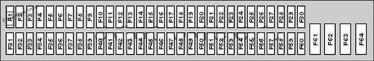 Fuse Box Diagram  Glove Compartment   Bmw X5  2000  2001  2002  2003  2004  2005  2006