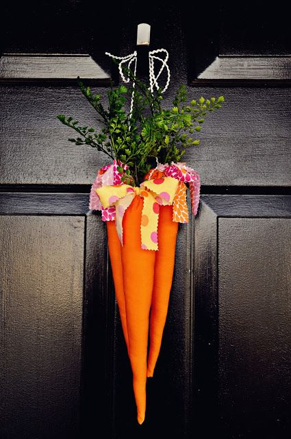 "Let's twist this- new Easter tradition- buy bunch of carrots and hang on door night before Easter for ""the bunny"""