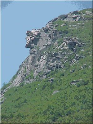 Old Man of the Mountain - New Hampshire Symbol - Picture...HE was an awesome site!