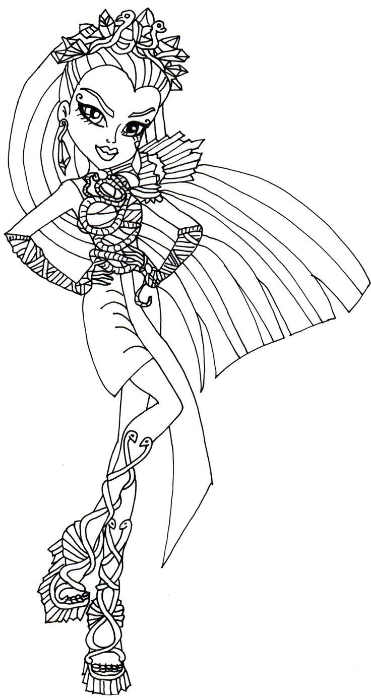 Nefera De Nile Boo York Monster High Coloring