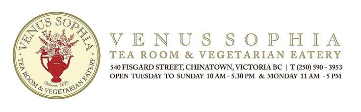 http://www.venussophia.com/  Venus Sophia Tea Room & Vegetarian Eatery, Victoria, BC