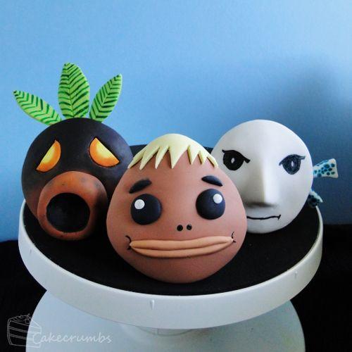 Legend Of Zelda Majora's Mask: Mask Cupcakes Deku, Goron