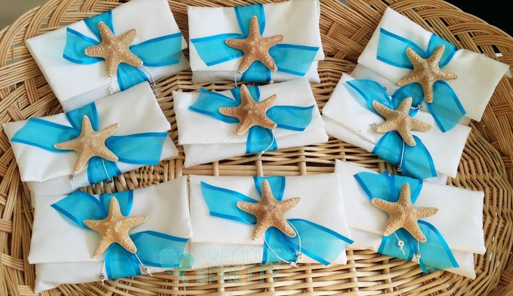 Greek wedding favors starfish bombonieres #weddings #weddingfavors #greekbombonieres #starfish #beachfavors #greece #preciousandpretty