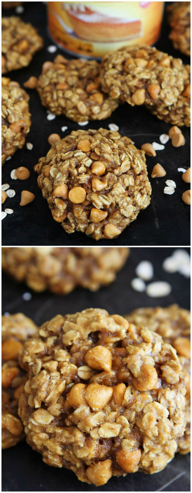 Brown Butter Pumpkin Oatmeal Scotchies Recipe on http://twopeasandtheirpod.com The BEST pumpkin cookies! You have to try these!
