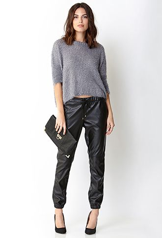 Ultra Chic Faux Leather Joggers | FOREVER 21 - 2000110631