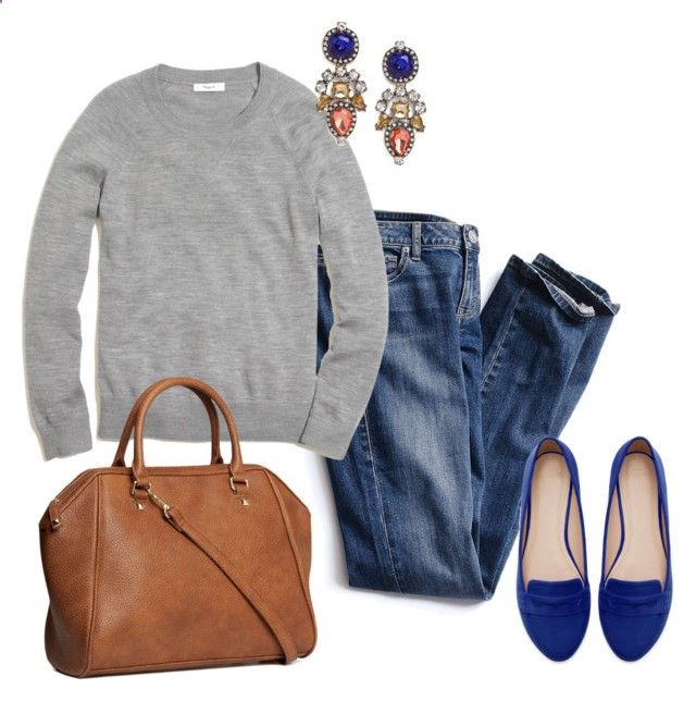 Casual with a Statement by angela-reiss ❤ liked on Polyvore featuring Victorias Secret, Madewell, BaubleBar, Zara and HM