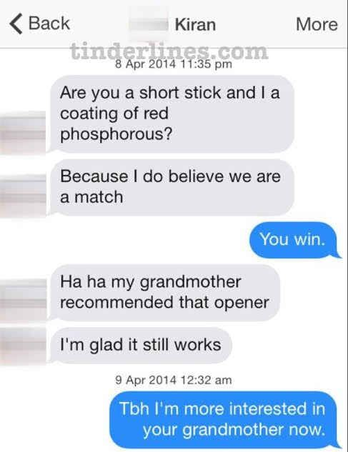 Some of the funniest Tinder conversations!