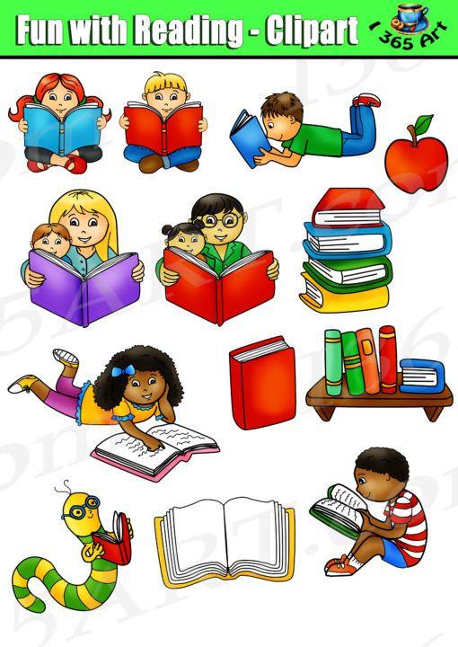 Reading Kids Clipart Set, Reading Fun- Commercial Graphics by Clipart 4 School https://clipart4school.com/product/reading-kids-clipart/?utm_content=buffer2b11b&utm_medium=social&utm_source=pinterest.com&utm_campaign=buffer  #teacherspayteachers #tpt #clipart #scrapbooking #papercrafts#reading #clipartforteachers #teachersfollowteachers #clipartforteachers