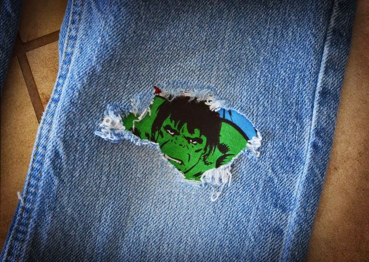 Smile Like You Mean it: Custom DIY Iron on Patches for Jeans