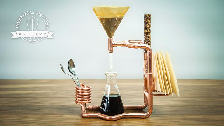 Сopper Coffee Pour Over Stand by AgeLamp on Etsy https://www.etsy.com/listing/532982442/sopper-coffee-pour-over-stand
