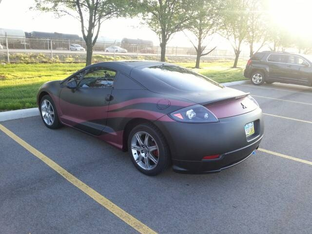 my 06 eclipse gt full dip and custom colored diped stripes with pearl plasti. Black Bedroom Furniture Sets. Home Design Ideas