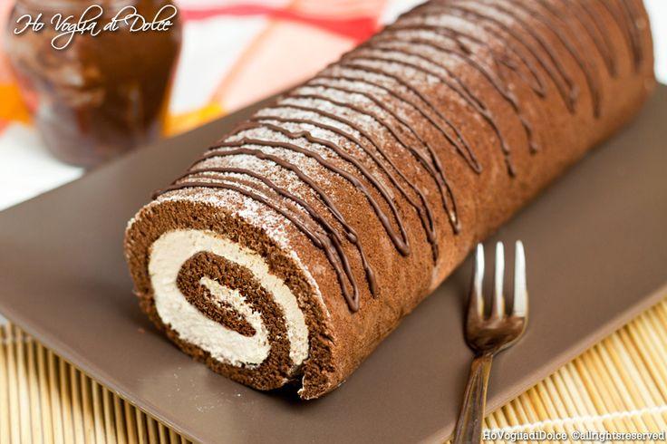 Rotolo+al+cacao+con+crema+al+mascarpone+e+caffè