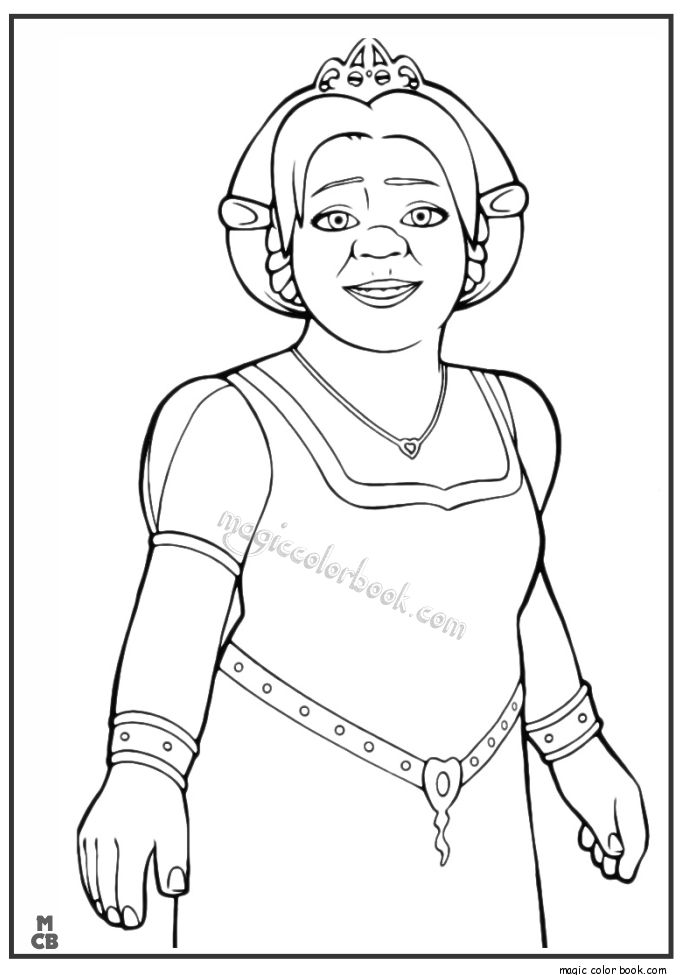 schreak coloring pages free - photo#42