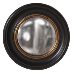 @Overstock - Albert Convex Black Mirror - This Albert mirror is finished in black lacquer with mottled gold leaf Inset and convex mirror in the center. This mirror can give you a new outlook on life.   http://www.overstock.com/Home-Garden/Albert-Convex-Black-Mirror/6765624/product.html?CID=214117 $110.99