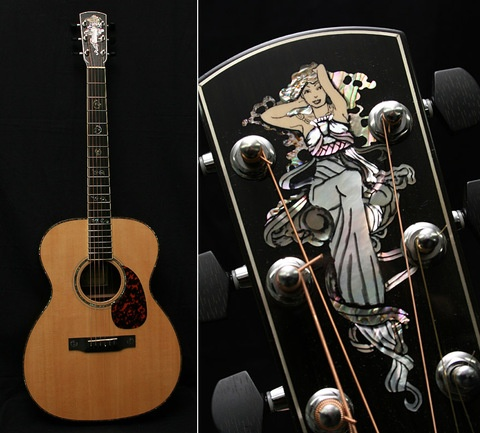 I have always coveted Larrivee guitars, the inlay is absolutely gorgeous.