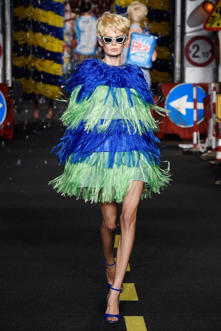 The finale was a total frolic, the business of fashion be damned, with bubbles flying everywhere and girls exiting from a carwash—which matched a pair of car wash fringe party dresses. So fresh and so clean.    - HarpersBAZAAR.com