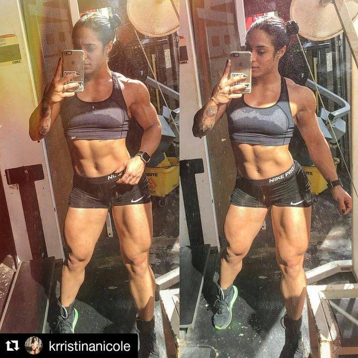 @krristinanicole #femalemuscle #femalemuscleguide #abs #biceps #shoulders #bicepsfordays #fitbody #armsfordays #flexing #quadflex #flex #muscles #muscle #girlswholift #femalebodybuilding #fitness #ripped #shredded #legs #calves #quads #legsfordays...