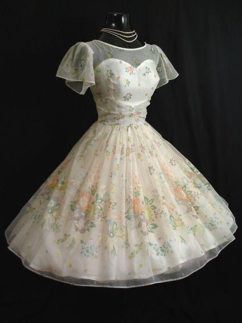 Vintage Vortex 50s Prom Dress..reception dress with white toms.