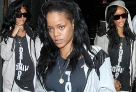 Rihanna senza trucco dopo la serata hot con le spogliarelliste