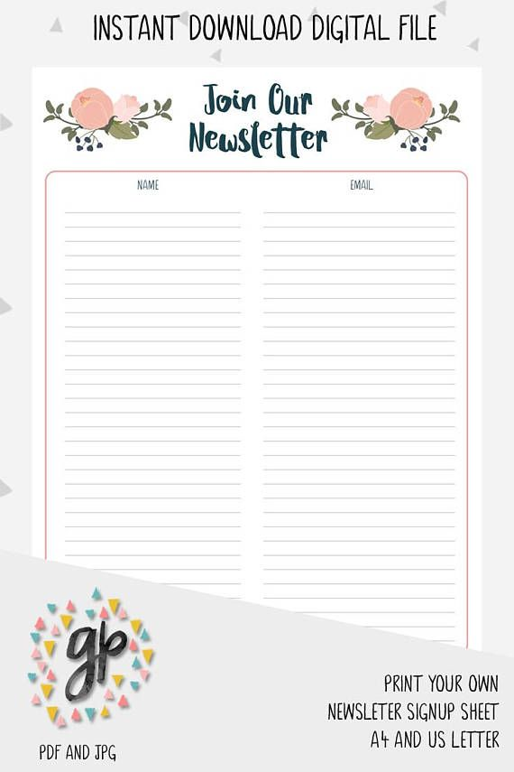 Best 25+ Newsletter signup ideas on Pinterest Login form - email signup template