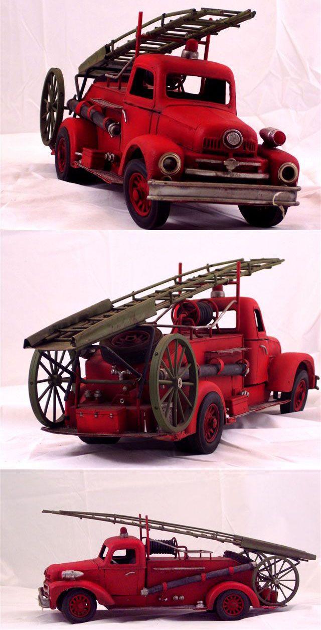 vintage tin toys | Tin Toy Hook & Ladder Truck