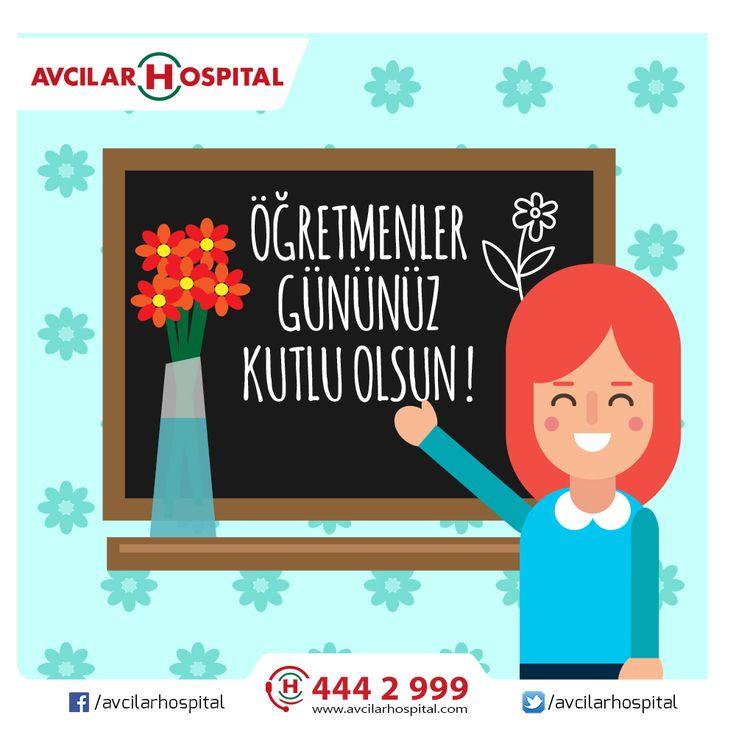 Öğretmenler Gününüz Kutlu Olsun !  Geleceğimiz için büyük önem taşıyan öğretmenlerimize ne kadar teşekkür etsek azdır.  #ögretmenlergünü #ögretmen #ögretmenlergününüzkutluolsun #okul #egitim #gelecek #saglik #ögretmenler #istanbul #avcilar #avcilarhospital