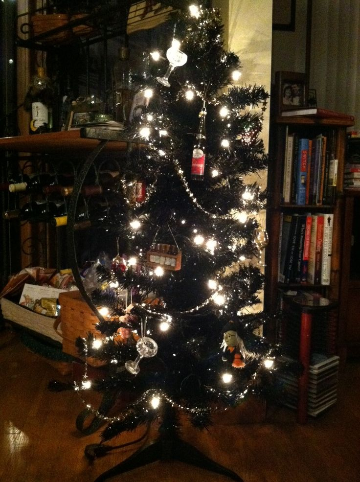 My New Hallo Wine Tree! Got This Black Tree At Garden Ridge In The After  Christmas Sale 2 Years Ago  Forgot To Get It Out Last Year.