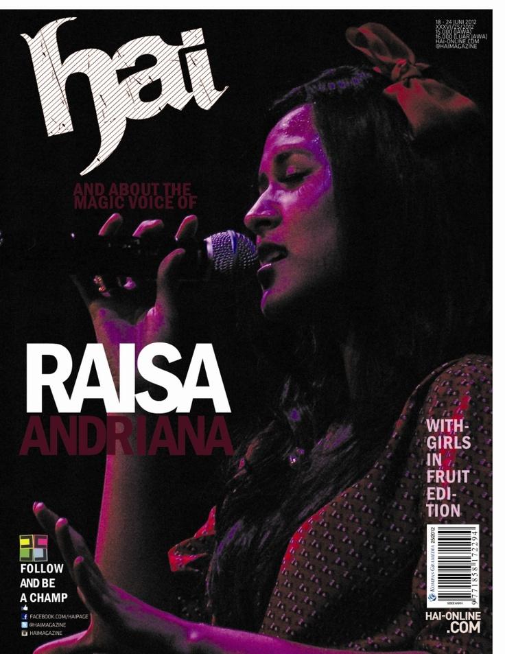 Raisa for Hai magazine cover