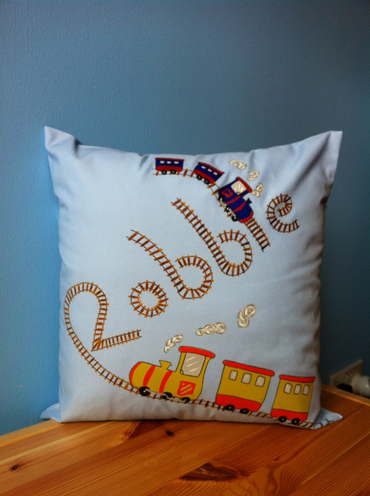 Where will Robbie's dreams take him with this gorgeous cushion to snuggle up to.