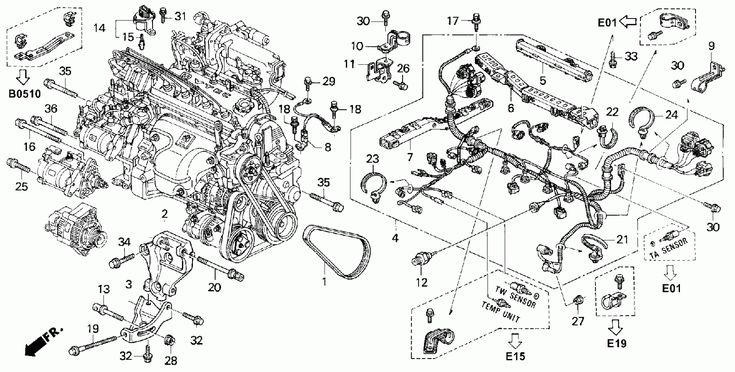 Honda Accord Engine Wiring Harness Diagram Honda Accord