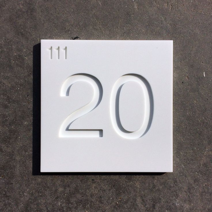 House number in mat Corian I Deco-Lust