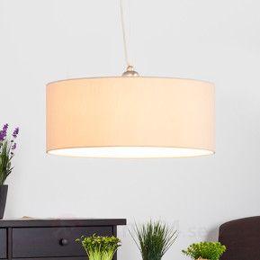 Beige LED-taklampa Gala, höj- och sänkbar