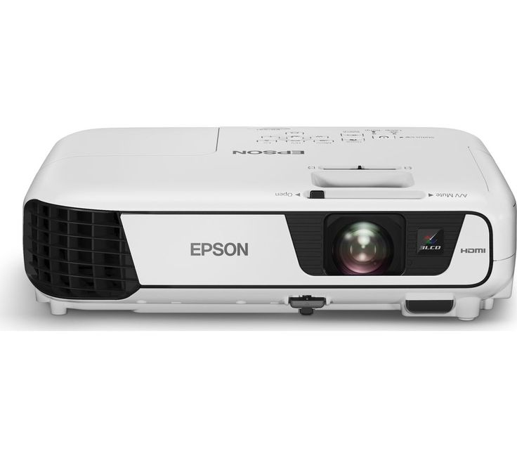 EPSON  EB-W31 Projector Price: £ 399.99 Ideal for any home or office, enjoy a range of high-quality content with the Epson EB-W31 Home Cinema Projector . 3LCD technology With improved colour light output, this Epson projector delivers three times brighter colours for impressive movie-viewing and presentations. Bring the whole family together to watch the latest blockbusters on the big screen....