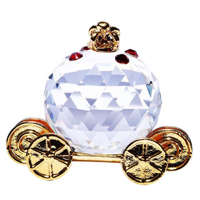 Glas Kristal Pompoen Vervoer Beeldjes Presse-papier Ambachten Art & Collectie Tafel Auto Ornamenten Souvenir Thuis Bruiloft Decoratie