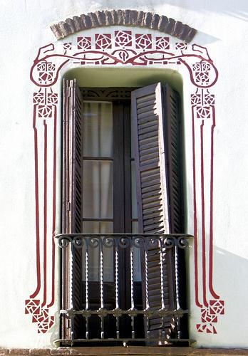 Barcelona - Art Nouveau stencil surrounds