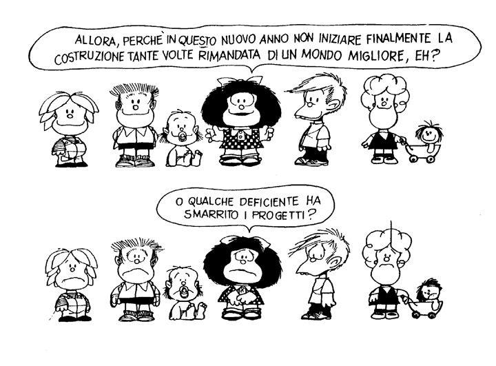Mafalda - buoni propositi per l'anno nuovo