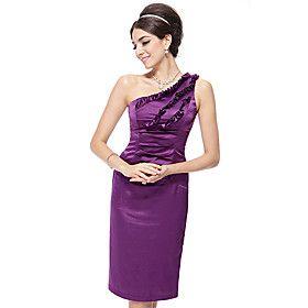 Alisapan kvinner One Shoulder Solid Color Formal Dress HE03338PP
