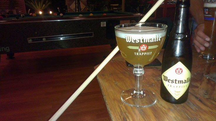 Westmalle Tripel - citrus and floral. Really good Belgian beer!  Recommended while playing pool or just relaxing with your friends! #Westmalle #Trappist #Belgian #craftbeer