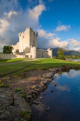 15th Century Ross Castle, Lough Leane, County Kerry, Ireland.