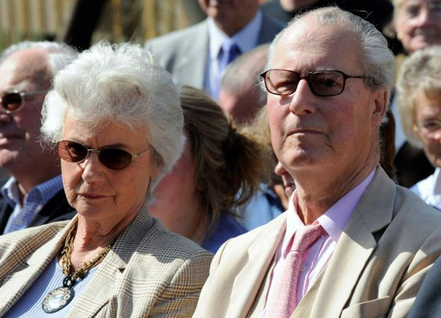 Ian Cameron with his wife Mary 2010