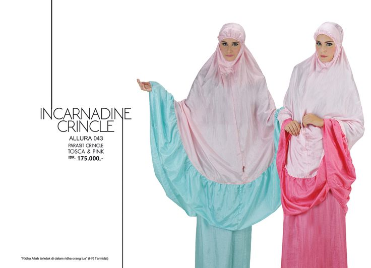 Incarnadine Crincle - Allura 043 Parasit Crincle  Tosca & Pink AVAILABLE only IDR 175.000,-