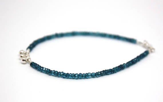 Bracelet avec des Apatites Bleues Bracelet Délicat Pierres