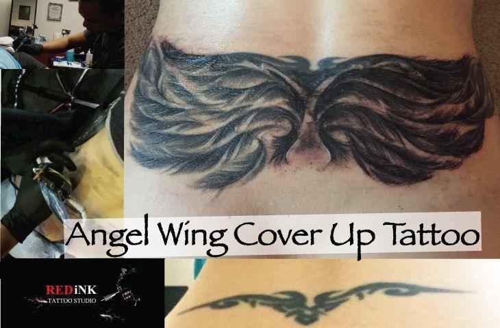 Redink Aylesbury Angel Wing Coverup Tattoo